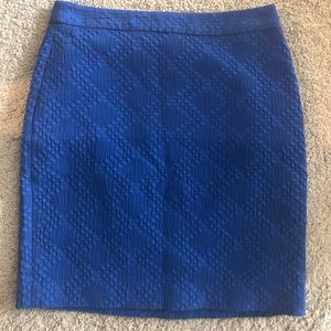 Blue pencil skirt from banana republic